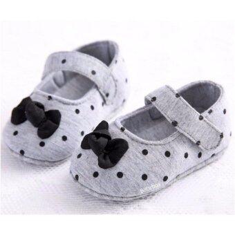 รองเท้าเด็กหัดเดิน รองเท้าเด็กอ่อน รองเท้าเด็กเล็ก รองเท้าเด็กพื้นผ้าลาย Polka Dot