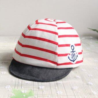 Harga Baby Boys Girls Striped Anchor Lucky Hat Infant Newborn Kids Cap - intl