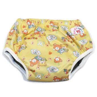 BABYKIDS95 Day Pant ชาโคล ผ้าอ้อมเอวสวม กันน้ำ A19 Size L รอบเอว 16-26 นิ้ว (Bears-Yellow)