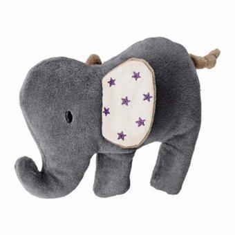 ชาร์มโทรล ตุ๊กตามีเสียง รูปช้าง สีเทา เบจ