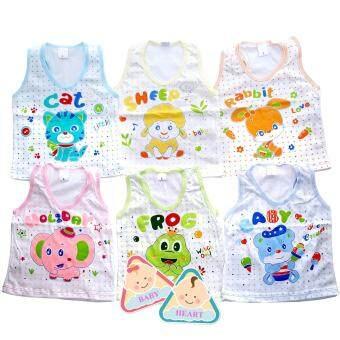 Baby heart เสื้อกล้ามเด็กอ่อน คละลาย คละสี ผลิตจากผ้า cotton 100%