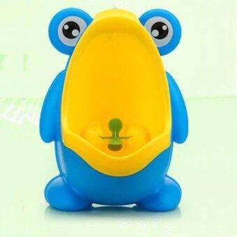 Baby โถปัสสาวะสำหรับเด็ก รูปร่างกบ สีฟ้าเหลือง
