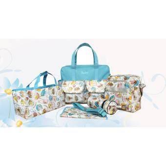 กระเป๋าคุณแม่ลูกอ่อน กันน้ำ เซต 5 ชิ้น สำหรับใส่ของใช้เด็กอ่อน