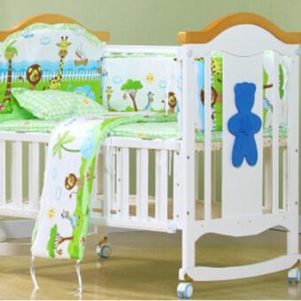 Allwin 100*58cm 5pcs/Set Promotion Cotton Baby Children Bedding Set green - intl