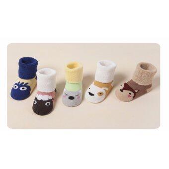 ถุงเท้าเด็กแรกเกิด เซ็ทถุงเท้าเด็ก ลายสัดว์สีเข้ม