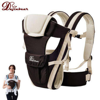 Newborn Infant Baby Carrier Breathable Ergonomic Adjustable Wrap Sling Backpack Khaki