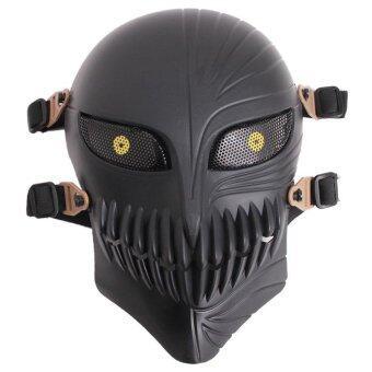 คอสเพลย์สนามหญ้าคาหน้ากากฮัลโลวีนปาร์ตี้หน้ากากป้องกันกระดูกซีเอสหน้ากาก (สีดำ)