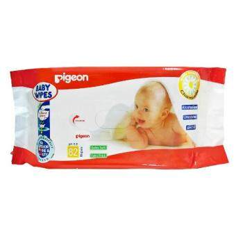 Pigeon Baby Wipes กระดาษเช็ดทำความสะอาด สูตรคาโมมายล์ จำนวน 82 แผ่น/แพ็ค (12 แพ็ค) (image 1)