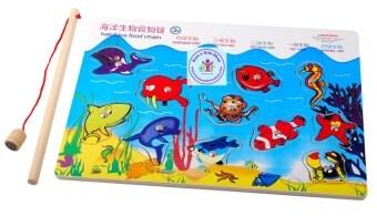ของเล่นไม้ เกมตกปลาจิ๊กซอร์ (Halo Bios Food Chain)