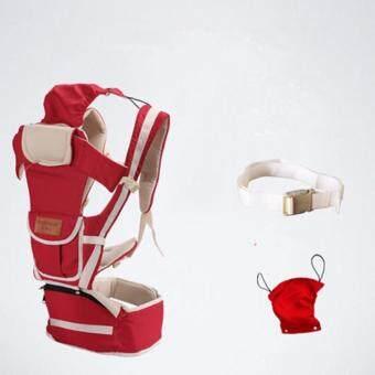 สีแดง 10 ใน 1 มัลติฟังก์ชั่ ไหล่เดี่ยวและคู่ ผู้ให้บริการทารก Baby Carrier เอว เข็มขัด with เอว ม้านั่ง - intl