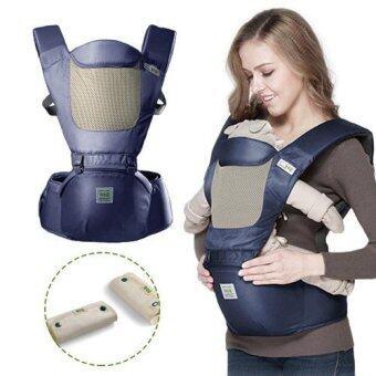 Baby Carrier+Hip Seat รุ่น aag-016 เป้อุ้มเด็กแบบมีอานนั่ง สีกรมท่า พร้อมผ้าซับน้ำลาย(สีกรมท่า)