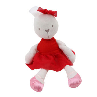 Harga HengSong Rabbit Doll Hold Baby Comfort Baby To Accompany Sleep Plush Toys Red