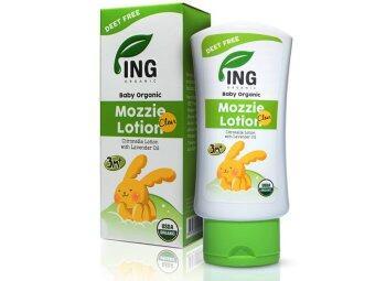 Ing Organic โลชั่่่นทาป้องกันยุง (มอซซี่ เคลียร์ โลชั่น) สำหรับเด็ก 80ml.