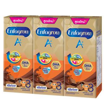 ขายยกลัง! Enfagrow A+ UHT เอนฟาโกร เอพลัส 3 ยู เอช ที รสช็อคโกแล็ต (24 กล่อง)