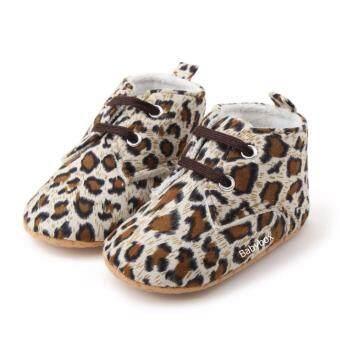 รองเท้าเด็กหัดเดิน รองเท้าเด็กอ่อน รองเท้าเด็กเล็ก รองเท้าเด็กพื้นผ้าทรงหุ้มข้อลายเสือ