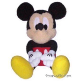 Disney ตุ๊กตา Mickey มิกกี้ เมาส์ ขนาด 14นิ้ว (สีดำ/แดง)