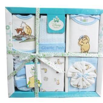 Baby Gift Set ชุดของขวัญ เด็กแรกเกิด 7 ชิ้น หมี Pooh สีฟ้า CP-3134