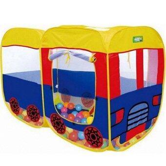 Kids Toys เต้นท์บ้านบอลรถบัส 2 ตอน(ไม่รวมลูกบอล)