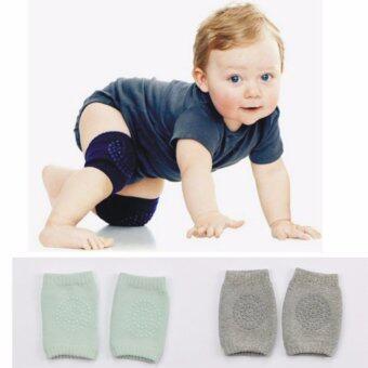 สนับเข่า เด็กทารก วัยกำลังคลาน รองเข่า เซ็ต 2 คู่ 2 สี สีเขียว และ สีเทา # 0009
