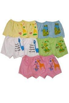 DD Kids กางเกงขาสั้นเด็กอ่นอ 5 สี สำหรับเด็กอ่อนสำหรับเด็ก0-4เดือน 10 ตัว