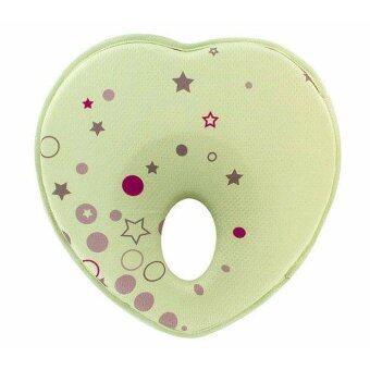 Baby Pillow หมอนหัวทุย หมอนหลุม หมอนสำหรับเด็ก หมอนทารก(สีเขียว)