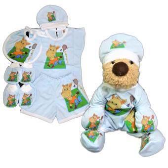 BABYKIDS95กางเกงผ้าอ้อมชาโคลขอบปกป้อง พร้อมแผ่นซับ ไซส์เด็ก3-16กก. (ลายยีน)