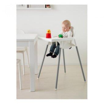 FIN-FIN เก้าอี้ทานข้าวเด็กเล็กทรงสูงพร้อมถาด (สีขาว) อายุ 6 เดือน - 4 ปี (image 2)