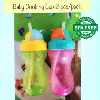 เบบี้ลิสต์ แก้วหลอดซิลิโคน ถ้วยหัดดื่ม ถ้วยหัดดูด เสริมทักษะการดูดน้ำจากหลอดซิลิโคน ขนาด 12 oz. (2 pcs/pack)