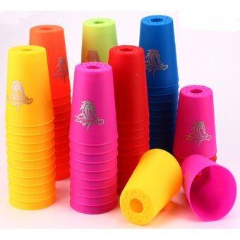 ชุดแก้วสแต็ค YongjunCup 1กล่อง12ใบ (คละสี)