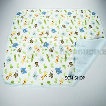 SCM Shop ผ้ายางสักราดรองฉี่เด็กน้อย ผ้ายางกันเปื้อน ที่รองกัันฉี่ ลายลิงน้อยน่ารัก