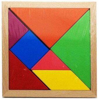Tronic Grocer ของเล่นไม้ตัวต่อจิกซอว์หลากสีหลายรูปทรง Wood Toy Colorful Jigsaw Lego Block 7 Pieces