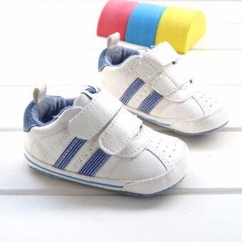 ((เบามาก/มีปุ่มยางกันลื่น))รองเท้าเด็กเล็ก Pre-walker รองเท้าเด็กทารก รองเท้าหนังนิ่ม Size 3