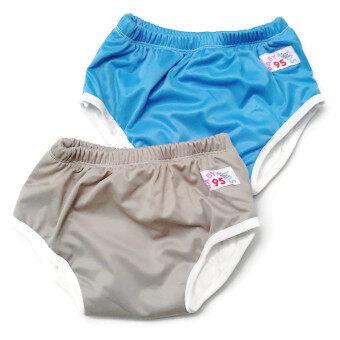 BABYKIDS95 กางเกงผ้าอ้อมแบบสวม รุ่นแบมบู กันน้ำ Size:L รอบเอว 16-22 นิ้ว เซ็ท 2 ตัว (สีเทา/สีน้ำเงิน)