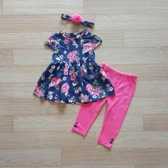 Carter's ชุดเข้าเซ็ท เสื้อลายดอกไม้+กางเกงเลคกิ้งสีชมพู