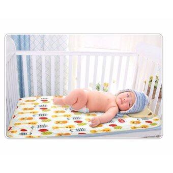 Babyshop656 ผ้ารองสำหรับปูที่นอนเด็ก ผ้ารองกันน้ำ ผ้ารองกันเปื้อน ขนาด 70*85cm รุ่น Giraffe alphabet – Baby sleeping sheet 70x85 cm. (Giraffe alphabet)