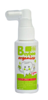 BAYBEE สเปรย์ป้องกันฟันผุสำหรับเด็ก ออร์แกนิค กลิ่นแอปเปิ้ล 50ml