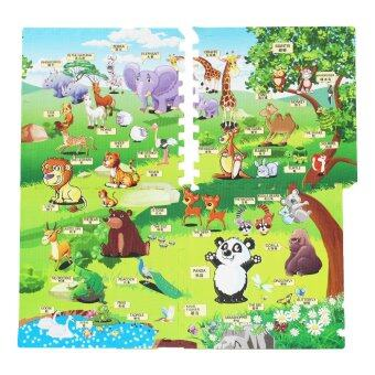 Thaiken แผ่นรองคลาน รูปสัตว์ป่า