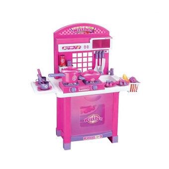 STL ชุดครัวเตาแก๊ส-เตาอบ สีชมพู