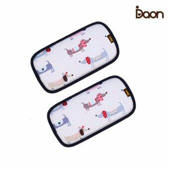 Daon หมอนหนุนระบายอากาศ - เด็กแฝด 3D Air Mesh Pillow-Puppy2PCS ลายน้องหมา สีขาว (จำนวน 2 ใบ)