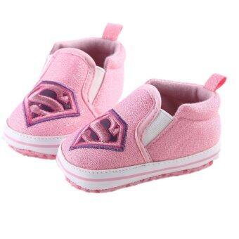 สีชมพูอ่อนพื้นรองเท้าทารกแรกเกิดร้อนรองเท้าเด็กสาวเด็กหนุ่มรีบสวมรองเท้าผ้าฝ้ายพู่ S935 - Intl