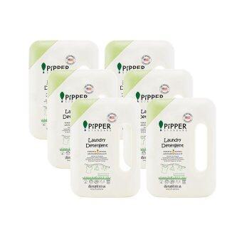 Pack 6 ขายยกลัง! PiPPER STANDARD น้ำยาซักผ้าสูตรธรรมชาติ กลิ่น Lemongrass แบบขวด 900 มล.