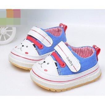 ((พื้นยางกันลื่น/น้ำหนักเบา))รองเท้าสำหรับเด็กวัยหัดเดิน รองเท้าผ้าใบเด็กเล็กSize 17