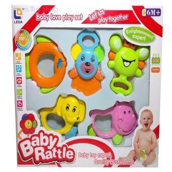 Baby Rattles Toys ของเล่นเด็กทารก เขย่ามีเสียง 5 แบบ