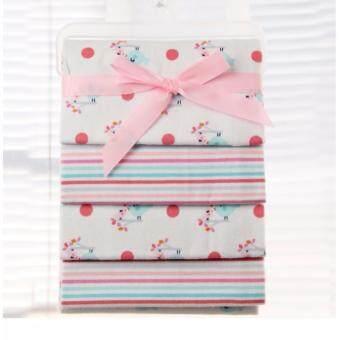Babyshop656 ผ้าอ้อมอเนกประสงค์ แพค4ผืน ขนาด76x76cm. รุ่นเบอร์15 จุดชมพู / JTY - Blanket pack of 4 No.15 Pink dot