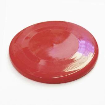 จานร่อน จานร่อนเพื่อสุขภาพ จานบิน เกมส์กลางแจ้ง 1 ชิ้น สีแดง