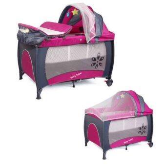 เตียงนอนเด็ก 3 in 1 สีชมพู (Baby Crib Bed 3 in 1 )