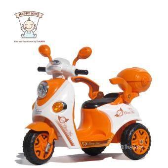 Thaiken รถมอเตอร์ไซค์ สามล้อเด็กไฟฟ้า สกูปปี้ (สีส้ม)