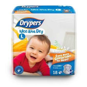 Drypers ผ้าอ้อมสำหรับเด็ก รุ่น WWD L 18 ชิ้น