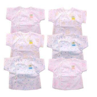 Baby heart เสื้อเด็กอ่อนแรกเกิด แบบผูกหน้า แพ็ค 6 ตัว