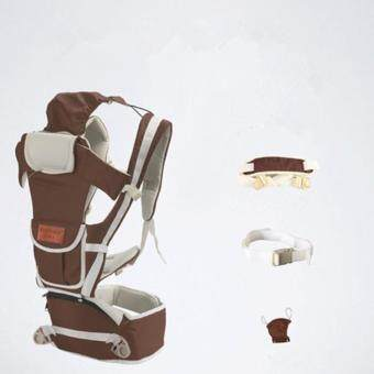 ใหม่ กาแฟ 10 ใน 1 มัลติฟังก์ชั่ ไหล่เดี่ยวและคู่ ผู้ให้บริการทารก Baby Carrier เอว เข็มขัด with เอว ม้านั่ง - intl